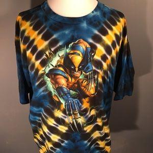 Wolverine universal studios tie dye t-shirt